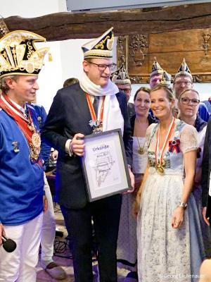 Traditionelles Schwänzkesessen der Tonnengarde im Kornhaus Niederkassel am 13. Februar 2019