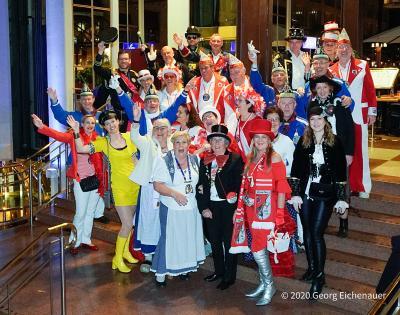Besuch unsere Tonnengarde bei der ersten Kostümsitzung der Prinzengarde der Stadt Köln am 16. Januar 2020 im Hotel Maritim.